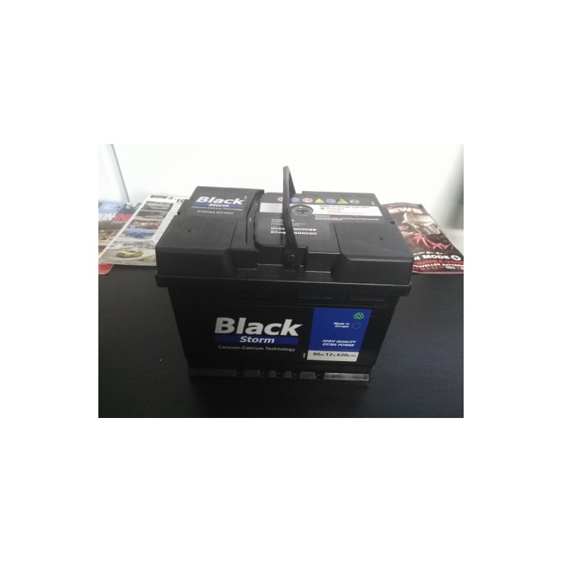 Batterie de voiture BlackStorm 66Ah 12V 620A(En)